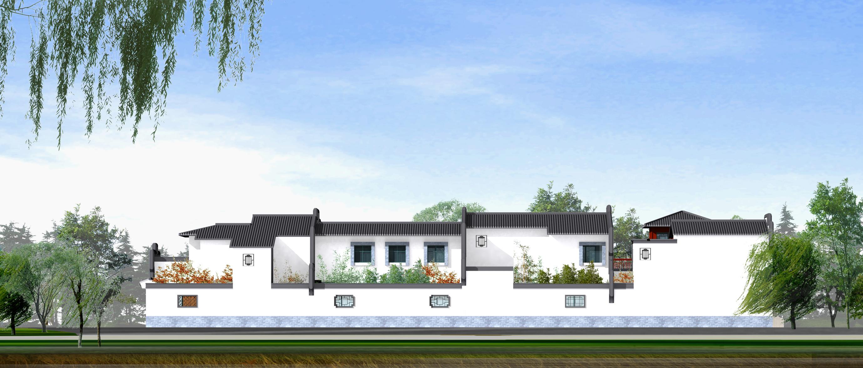 经典中式徽派二层别墅设计图 房屋设计图_别墅设计图