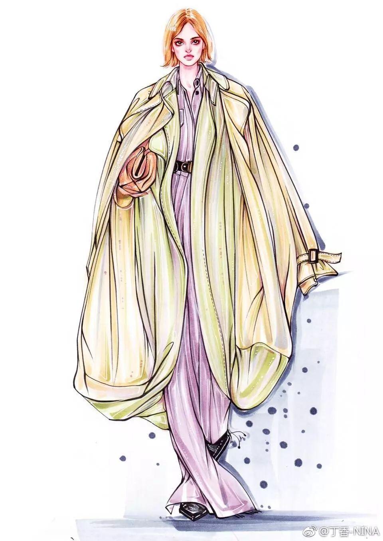 画服装手绘就像速写一样 注意人物的 动态,比例,衣服线条的穿插 肩线