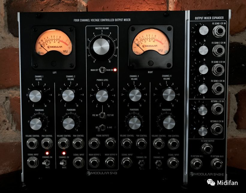 moon modular 發布 m543 壓控混音器模塊套裝圖片