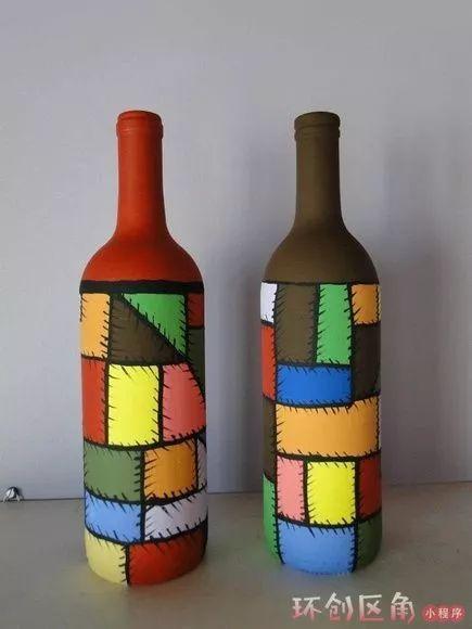 废旧瓶子不要扔,这40种创意玩法包揽你的美工区!图片