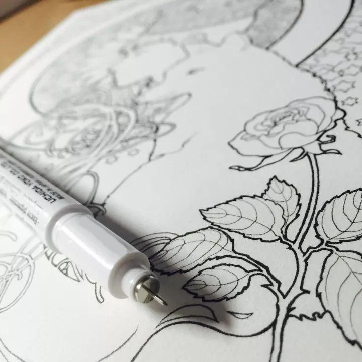 水彩线稿⊙小王子的水彩创作线稿,你不收藏一下么?图片
