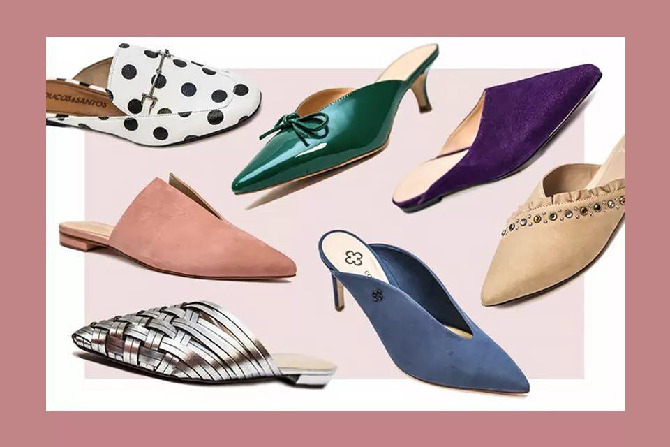 花纹设计比较独特的款式,如格纹,刺绣等,能中和掉一部分穆勒鞋的随性.