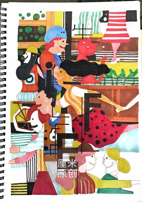 【视觉传达考研手绘】招贴海报平面设计手绘考研作品分享——厘米手绘