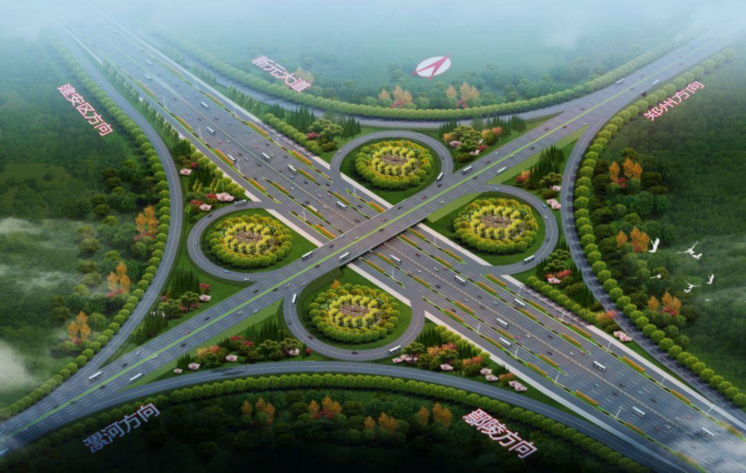 (新107国道跨新元大道互通立交桥)图片