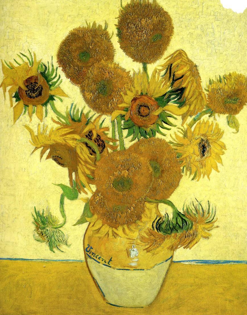 梵高向日葵系列油画