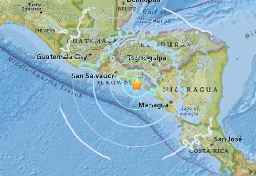 萨尔多瓦连发多起地震致房屋受损 暂无人员伤亡