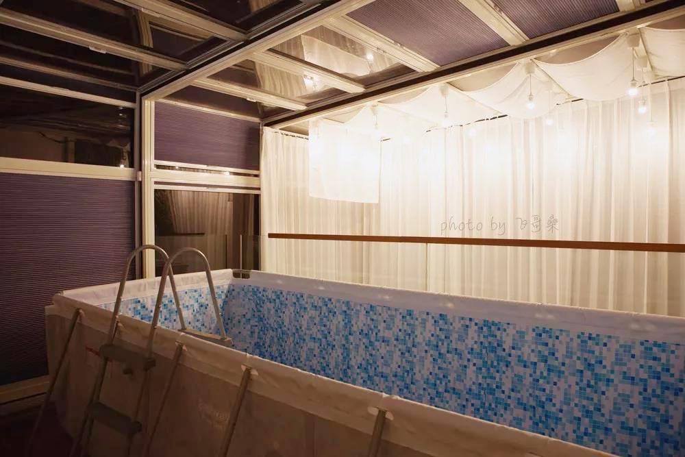 自装自设MUJI HOUSE 开放式厨房 泳池 6米植物墙