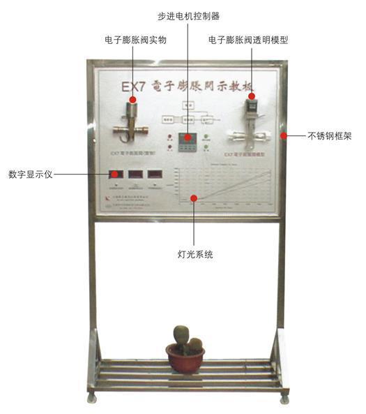 电子膨胀阀示教板,制冷制热实训设备图片