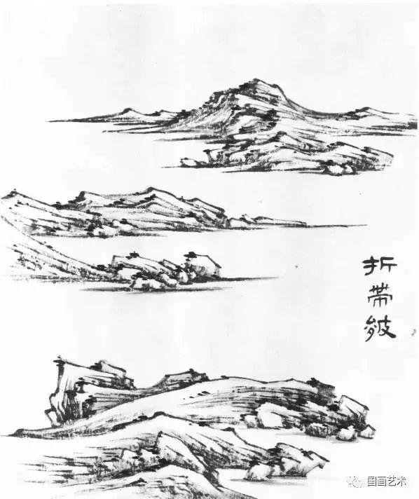 图文教程:山水画基础技法之山石画法图片