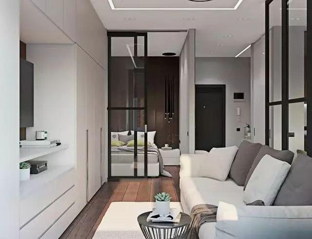 在上海做3年销售,回老家入手45平公寓,客厅打衣柜真心