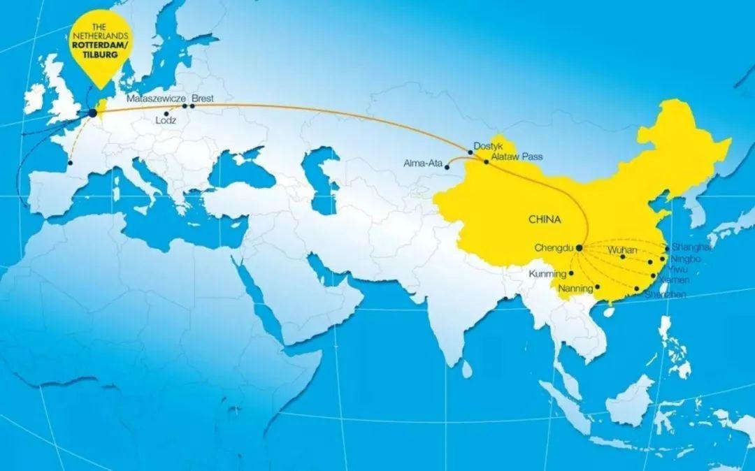 国际货运集团开设欧亚铁路运输服务,中欧往来路路畅通图片
