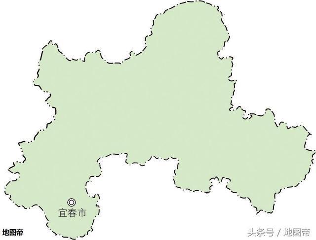 江西省宜春市市中心,地图上为何在偏远的一角?