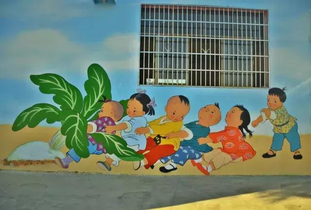 乡村特色墙画手绘