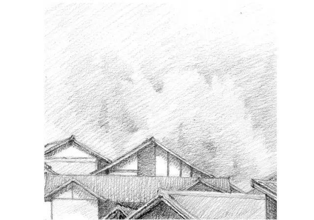 先把单色玩一遍!零基础教你素描画风景竹楼水车!