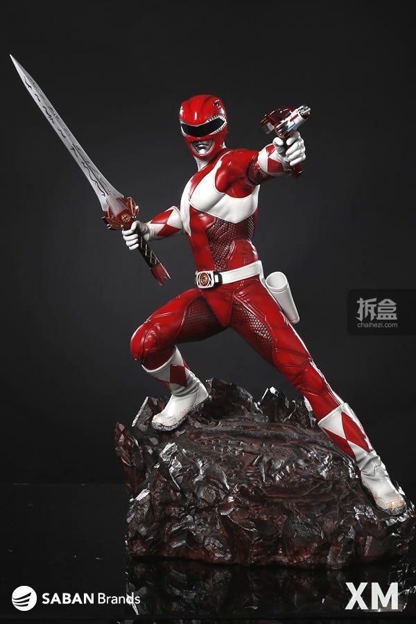 科幻片恐龙世界_XM Studios《恐龙战队》红衣战士 1:4可动人偶