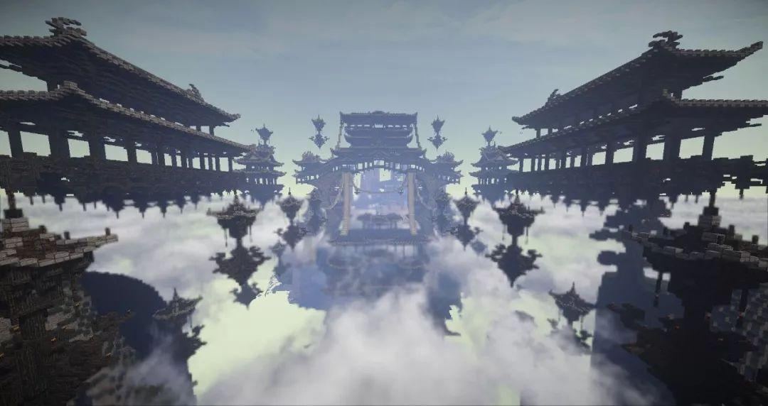《我的世界》中的墨家机关城(来源亦听团队制作)图片
