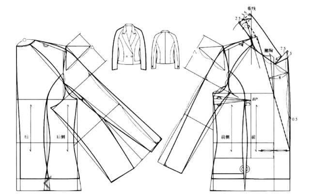 包包结构图纸样