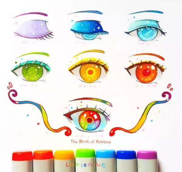 用马克笔画眼睛 via 插画印象