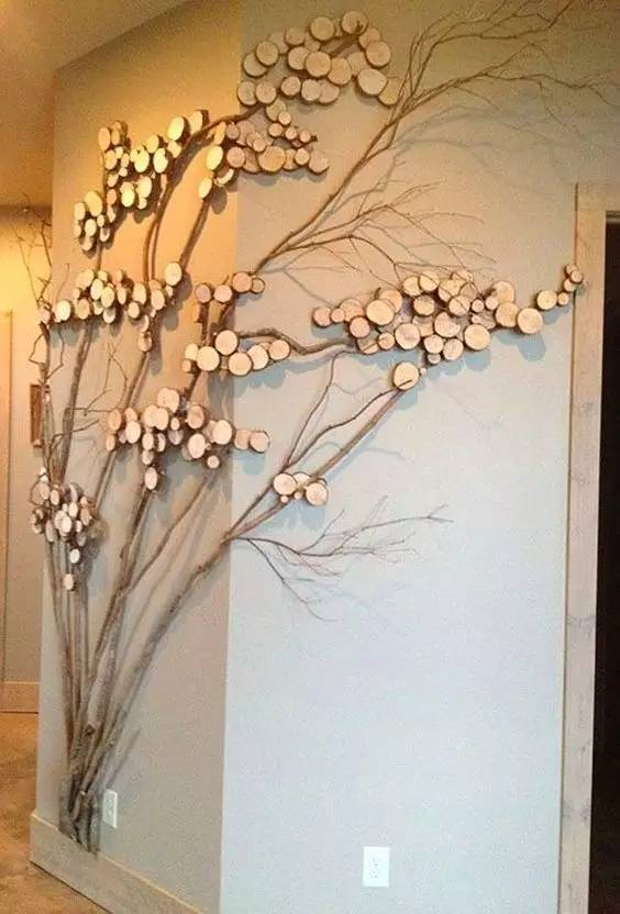 母婴 正文  创意树枝手工制作 长长短短的枯树枝做成的圣诞树