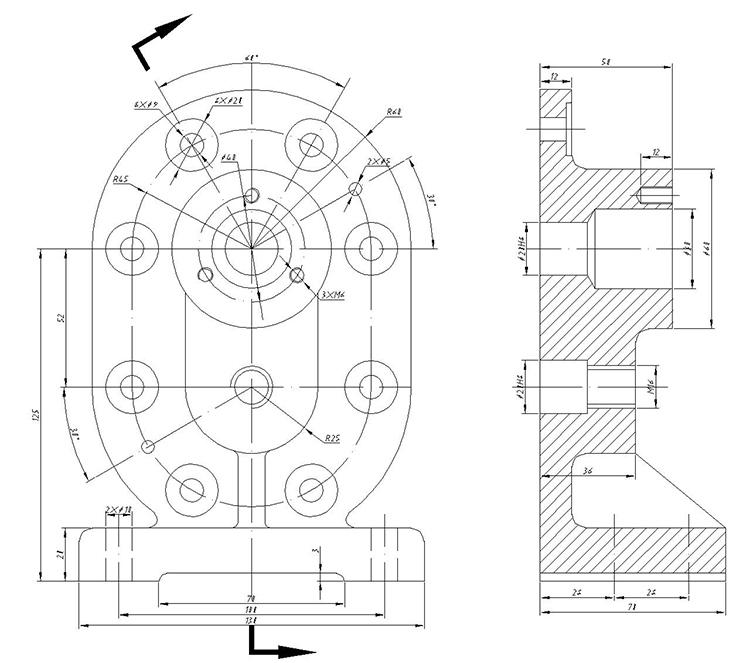 工程图 简笔画 平面图 手绘 线稿 750_663