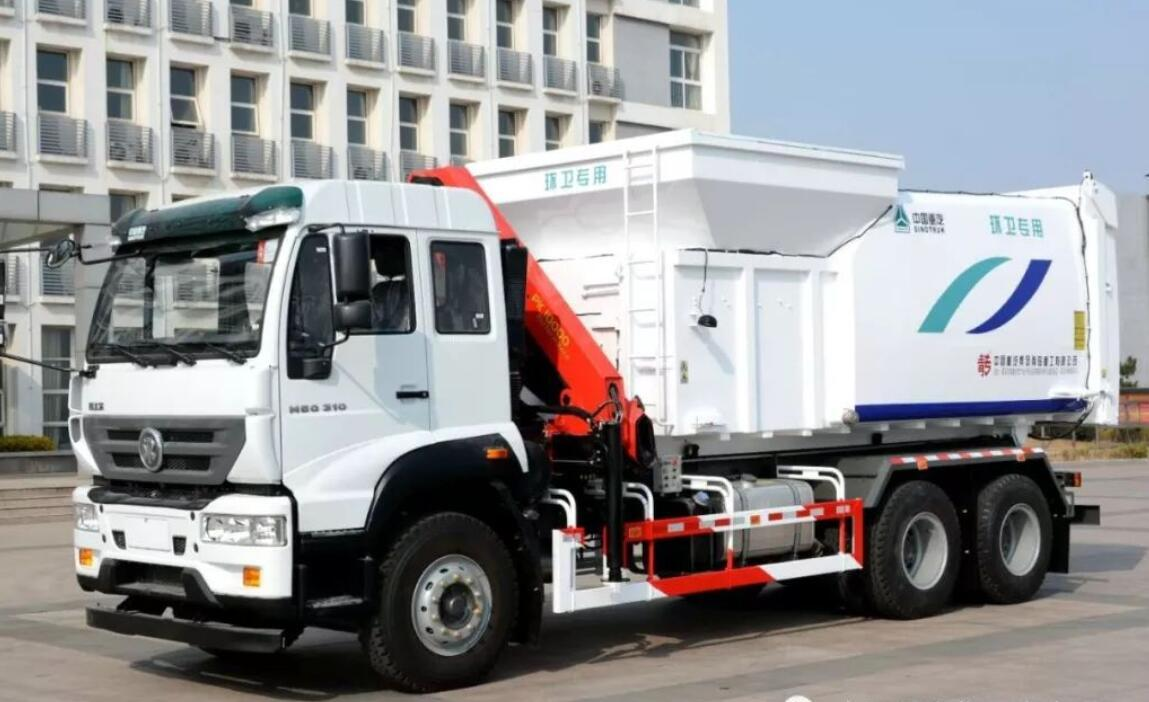 程力重工研发成功新型吊装式垃圾车图片