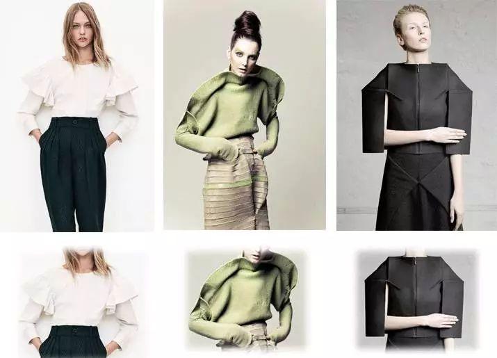 夸张造型服装手绘图