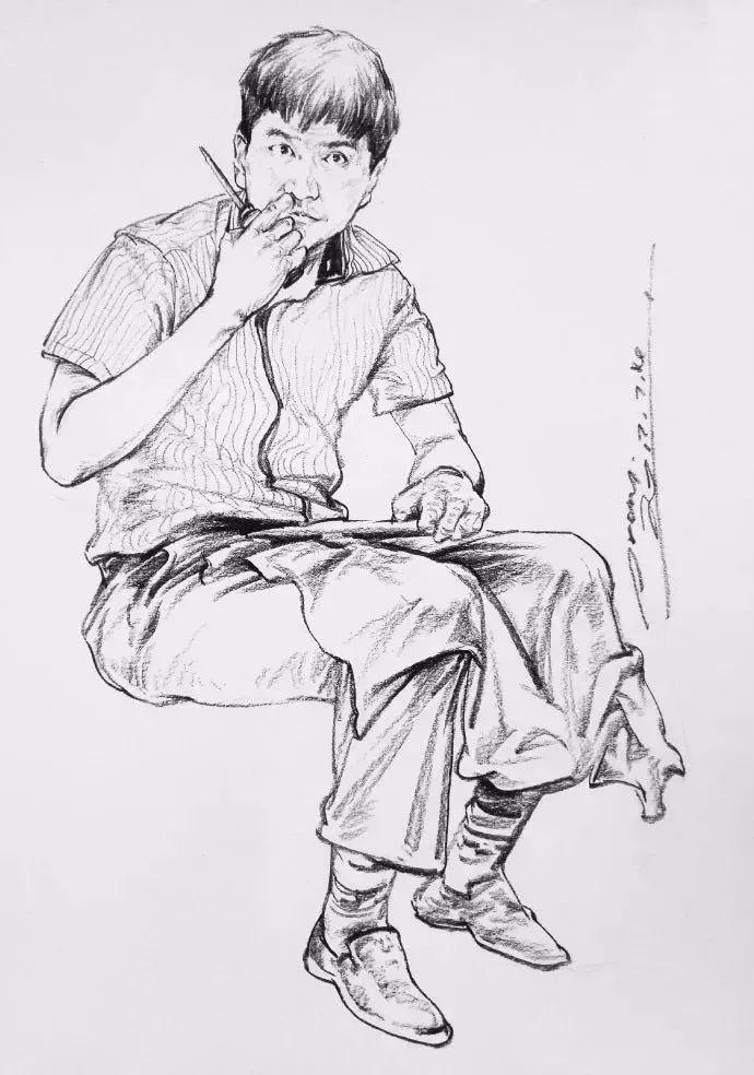 人物速写站姿 坐姿 蹲姿,哪种最难画