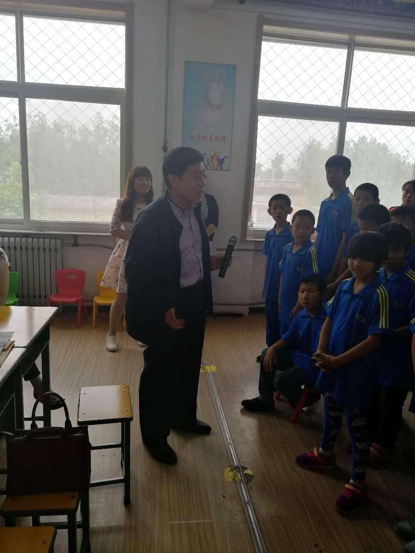 """易县李俊山委员参与""""走进特教学校、关爱特殊学生""""爱心捐赠活动"""