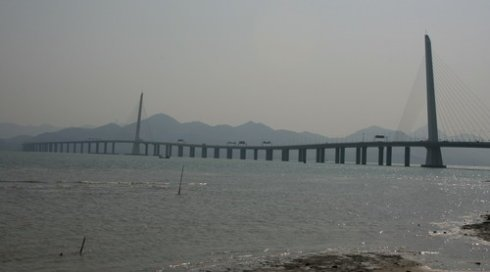 深圳记忆:深圳机场和深港跨海大桥图片