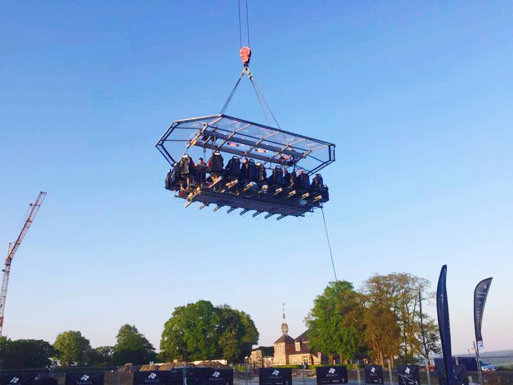 疯狂盛宴 吊在50米高空, 与米其林星厨共享高逼格美食