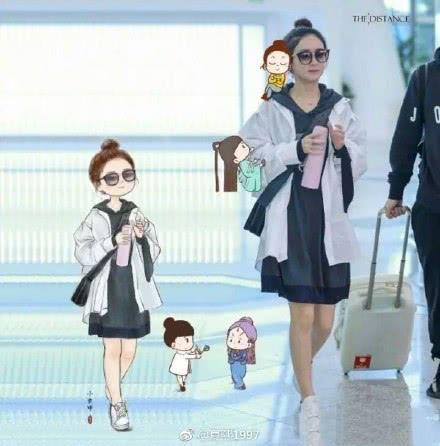 赵丽颖的机场手绘图,简直就美翻了,不愧是收视女王!