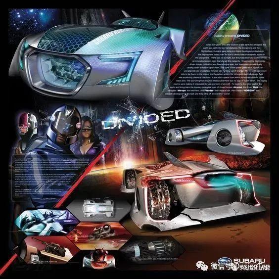 作品集排版参考:汽车设计