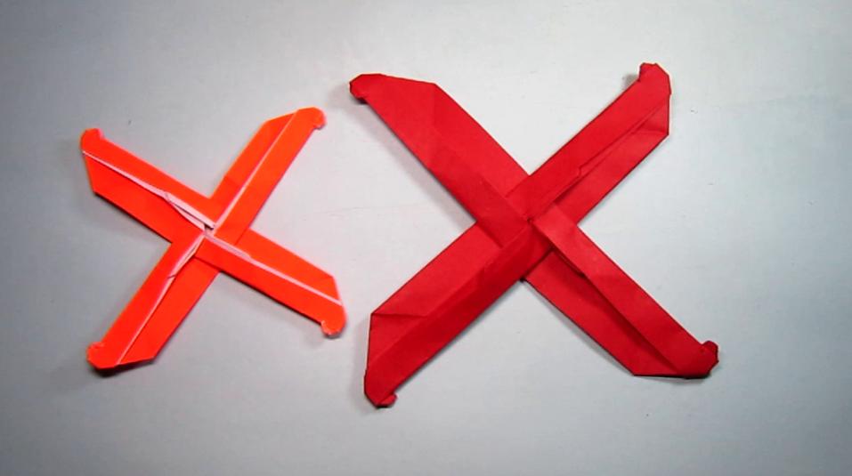 简单的回旋镖折纸,看一遍就能学会回旋镖的折法,diy手工制作