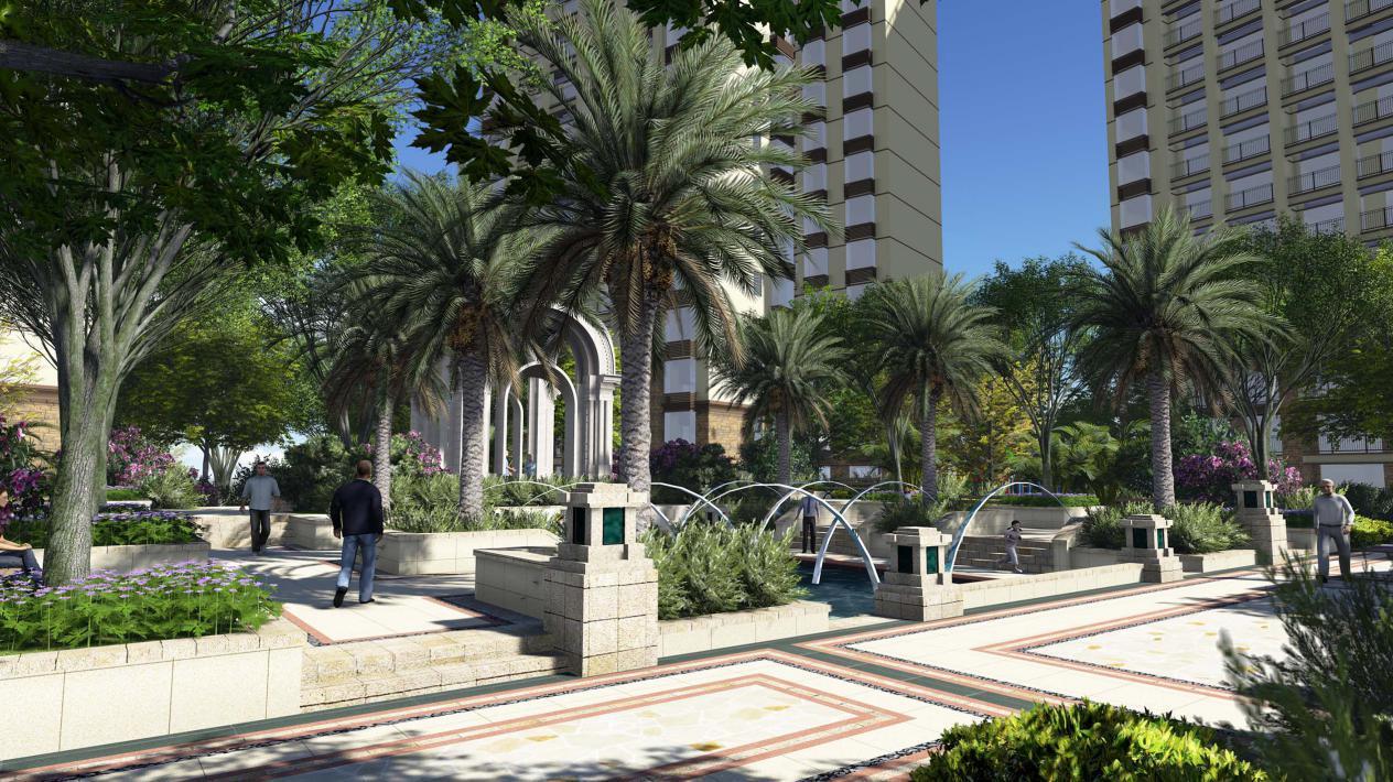 温莎时尚住宅区广场景观设计效果图公园简约v时尚风格图片素材图片