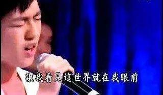 是林宥嘉在台湾超级星光大道上翻唱的《你是我的眼》