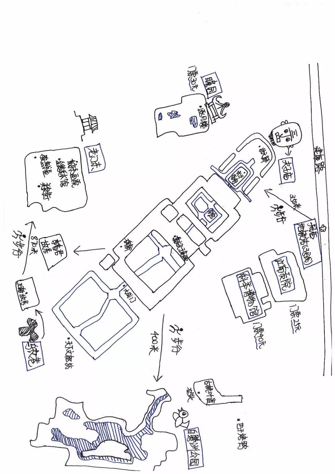 科举博物馆 精美手绘版线路示意图如下所示       不管夫子庙有多坑