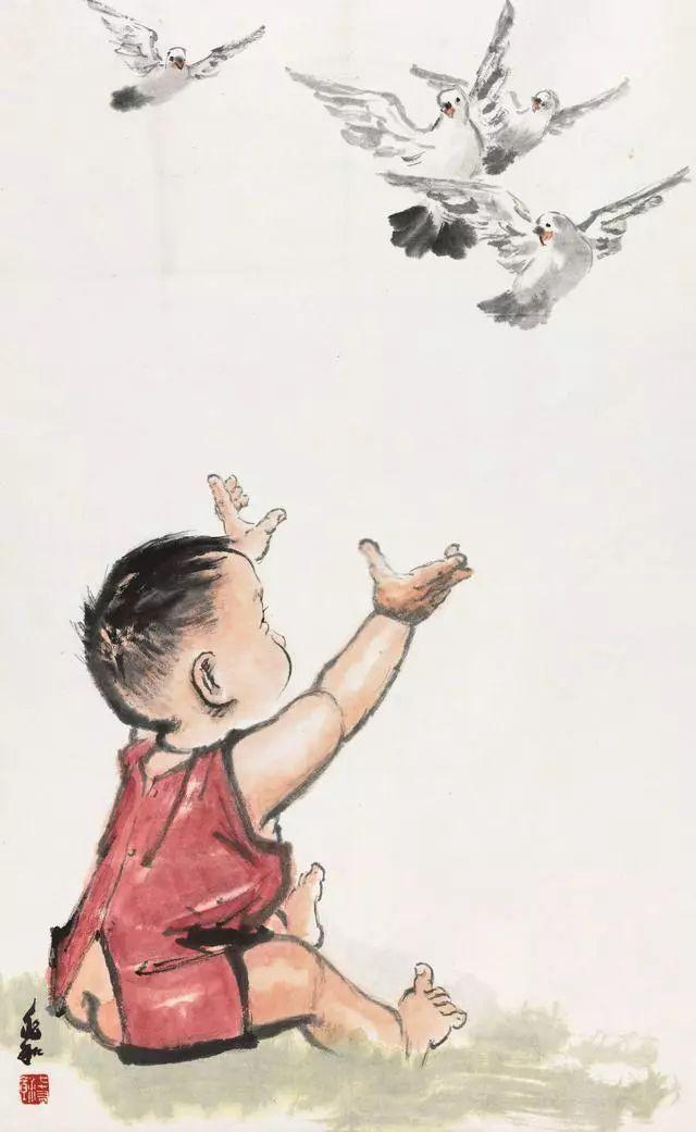 """中国现代水墨人物画一代宗师——蒋兆和的""""童真童趣"""""""