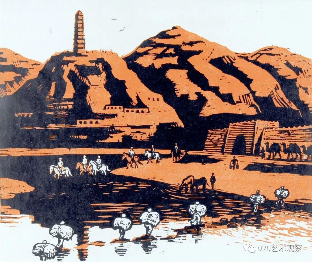 古元版画里的田园风光之美和劳动之歌图片