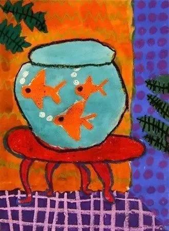 家居系列 花瓶系列 金鱼系列 马蒂斯还很喜欢小动物,尤其是自己的图片