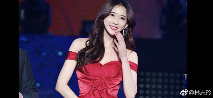 林志玲参加活动, 一身低胸红裙性感撩人! 林志玲: 把爱带回家!