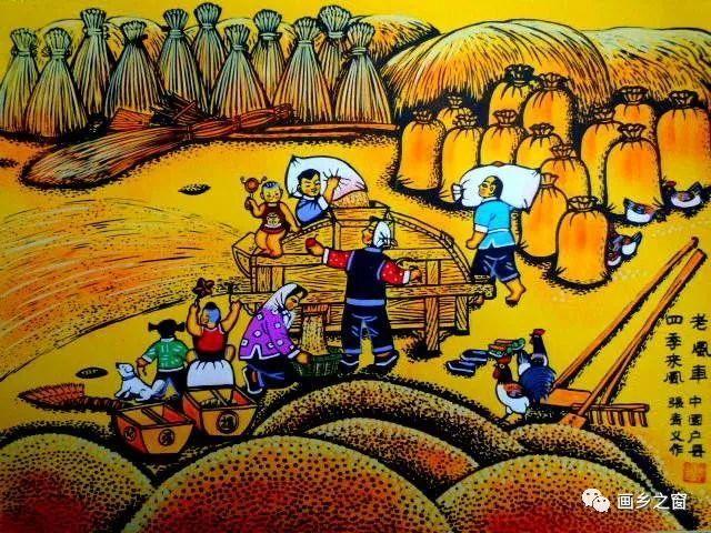 """""""一带一路""""户县农民画在转型中寻求发展图片"""