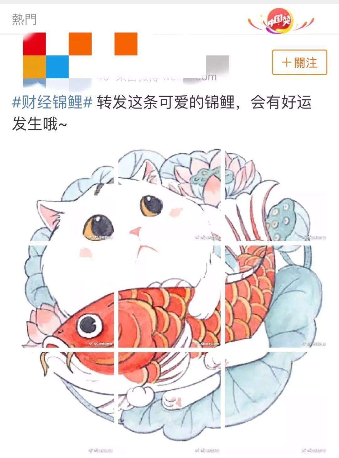 锦鲤搞笑手绘图片