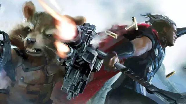 """被雷神叫""""小兔子"""",火箭浣熊的内心是拒绝的~"""