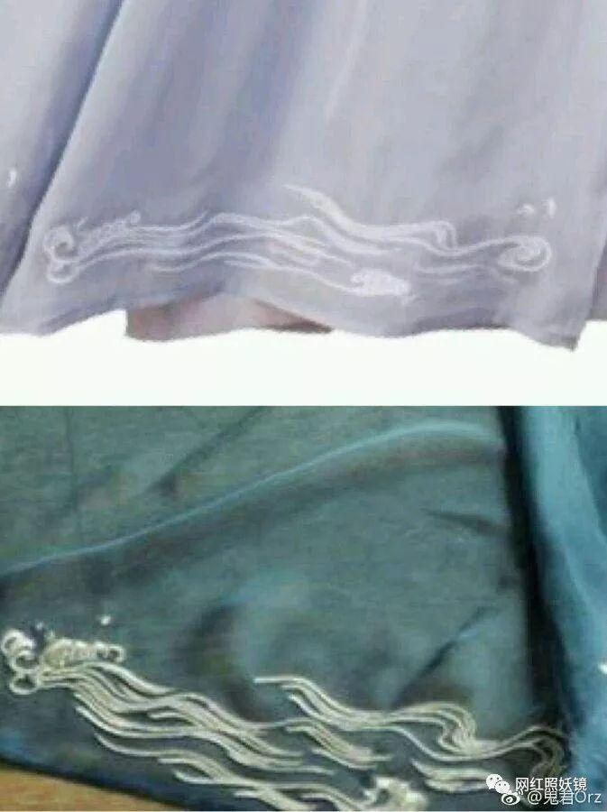 时尚 正文  除了配色,细节处的刺绣花纹疑似抄袭了清xx家的一款蓝色