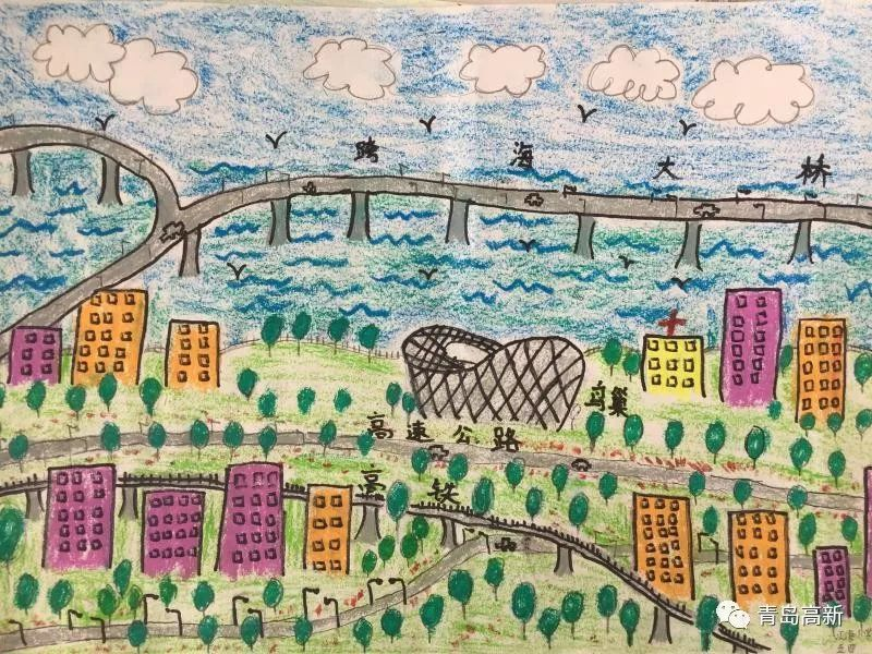 """寄语家乡建设小学生用手中纸笔绘就""""大美红岛"""""""