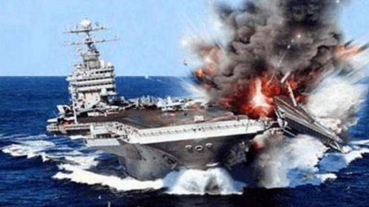 美俄开战,美军损失惨重,美航母险被俄军舰击沉!