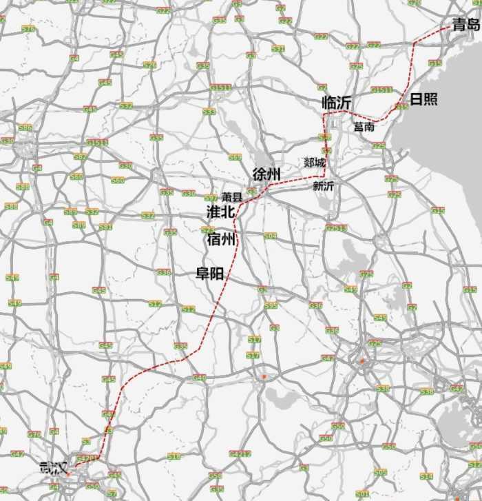湖北至山东正在规划一条高铁, 这种线路方案你觉得如何