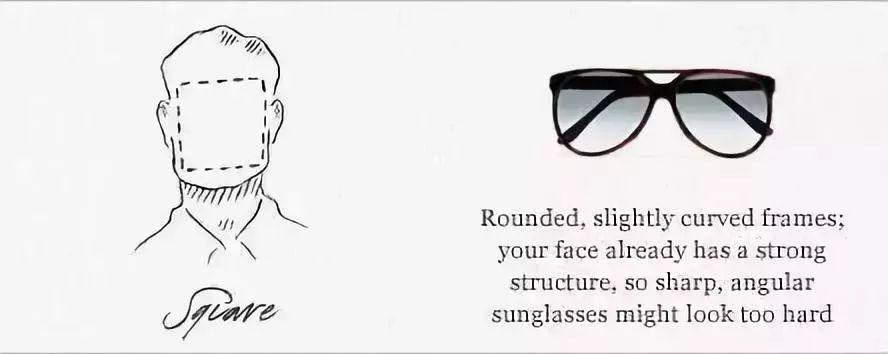 方形脸墨镜