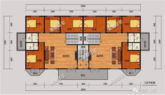 双拼套房平面设计图
