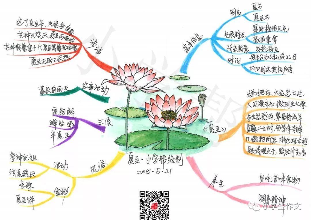 【原创】手绘12节气思维导图(小学生必知知识)图片